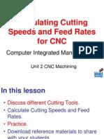 3 - Cutter Speeds and Feeds