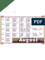 Calendar Aug 09