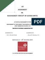 Management Concept of SAWDES MOVIE
