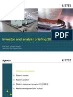 Rieter Presentation Investor and Analyst Briefing 2013 en Original 54428