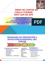 TEST ADN VPH SCREENING CÁNCER DE CÉRVIX Jul 2013