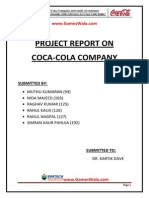 Final Report on Coca Colawww Gameswala Com 120706091317 Phpapp02