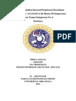 sistem pengendalian internal perputaran persediaan barang pada PT. AGASAM (Cafe House Of Sampoerna)