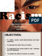Persuasive speech on racism