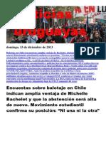 Noticias Uruguayas Domingo 15 de Diciembre Del 2013
