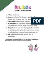 2nd grade classroom rules