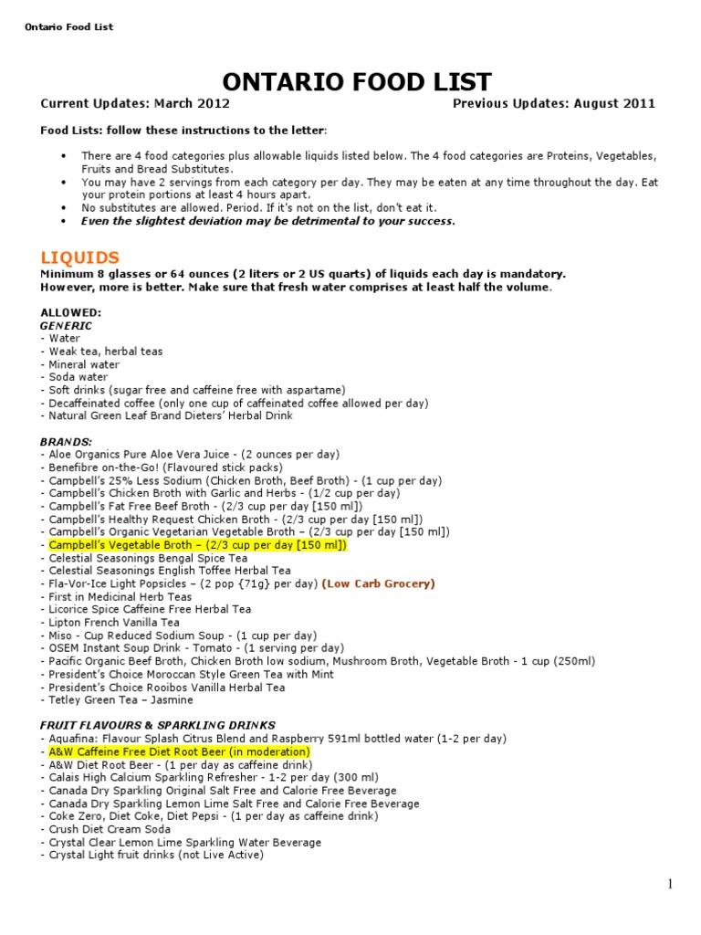 dr bernstein pdf food list