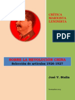 Stalin - Sobre la Revolución China (1926-1927)