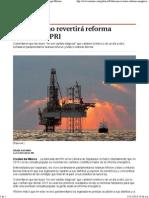 14-12-13 Población no revertirá reforma energética - PRI.