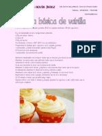 Recetas de Cupcakes de Vainilla y Cupcakes de chocolate