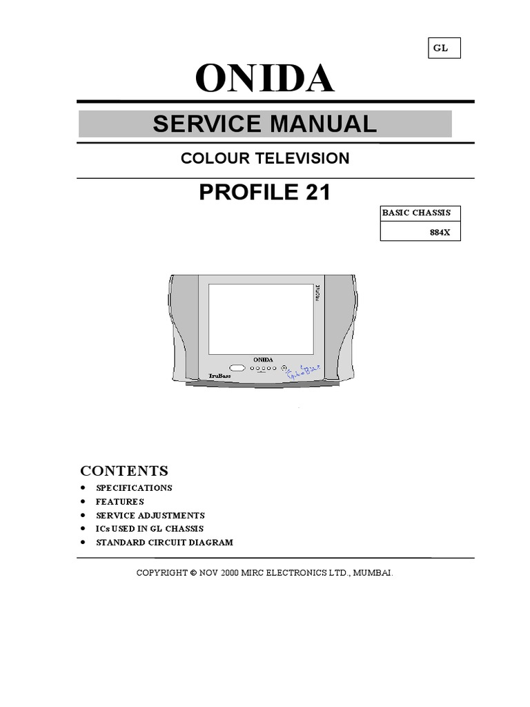2192 Sony Tv Circuit Diagram Electrical Wiring Diagrams Colour T V Service Manual Onida Profile