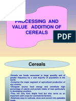 Processing and value addition of cereals