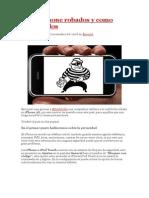 Sobre iPhone Robados y Como Recuperalos