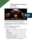 99 Inspirational.& Motivotional Quotes on Entrepreunership. Docx