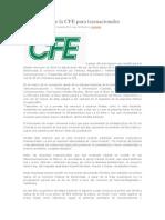 Fibra óptica de la CFE para trasnacionales