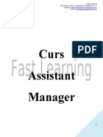 Curs Assistant Manager