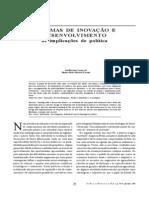 sistemas de inovação e desenvolvimento as implicações de políticas
