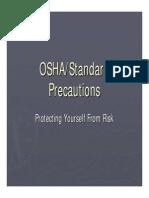 OSHA and Standard Precuations 2012