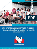 Resumen Ejecutivo Informe Los Afrodescendientes en El Peru