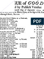 Henrietta Maria Caine, Catalog of Goods To be Sold by Publick Vendue, Boston, 1754