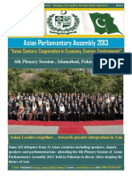 Asian Parliamentary Assembly 2013, Pakistan, E-Book by Arif
