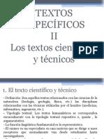 El texto científico