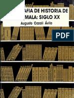 Cazali Avila - Bibliografia de Guatemala XX