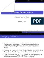 Fitting Copulas to Data