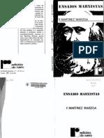 Felipe Martínez Marzoa - Ensaios marxistas