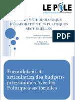 101126 Guide Mthodologique Elaboration Des Politiques Sectorielles