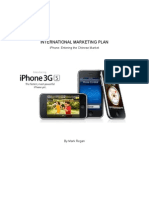 16520745 iPhone 3GS International Marketing Plan China