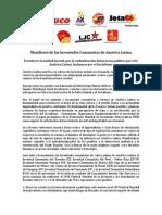 Manifiesto de las Juventudes Comunistas de América Latina