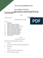 Civil Status (Amendment) Act 2001