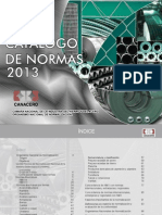 Catalogo de Normas MX 2013