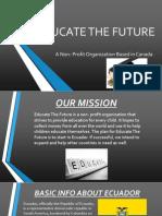 educate the future - sachin subhas nambisan