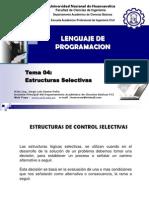 Tema 004 Estructuras Selectivas