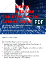 Supporting clients to use the internet for career building