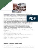 Plumbing Companies Virginia Beach