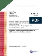 2ae3cdbe2a0 T-REC-E.161.1-200809-I!!PDF-E