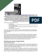 Plumbing Emergency Virginia Beach