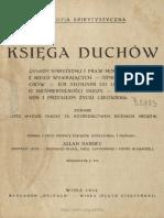 Księga duchów zebrał Allan Kardec spolszczył JCh (1934)