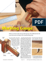Accurate Layouts With a Marking Gauge