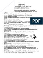 101 tips for pe teachers
