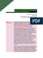 ASPECTOS BÁSICOS EN LA FORMACIÓN DE INVESTIGADORES