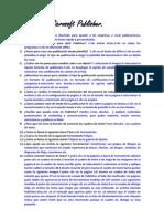 Cuestionario de Microsoft Publisher