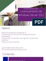 WinSvr2012 LicensingWinSvr2012 Handout Esp 2