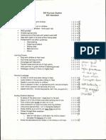 skill checklist