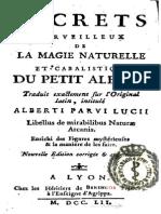 Albertus Parvus Lucius - Secrets Merveilleux de La Magie Naturelle Et Cabalistique Du Petit Albert