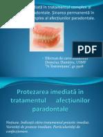 Protezarea imediată în tratamentul complex al afecțiunilor paradontale