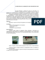 determinação do espectro de absorção dos pigmentos fotossintéticos